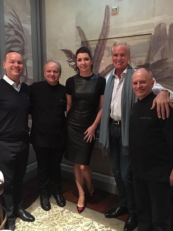 Monaco November 2016 With Joel Robuchon 3 Star Michelin Chef