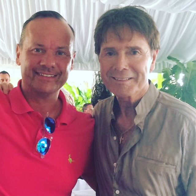 With my celebrity pal Sir Cliff Richard raising funds for an amazing cause in Barbados 2017